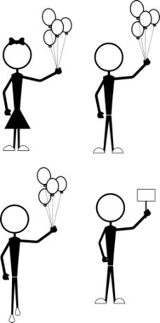 卡通形象的气球