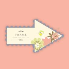 美丽的花卉装饰相框背景