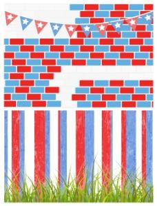 背景设置爱国的美国主题矢量