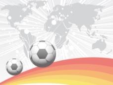 灰色的光线和足球地图背景