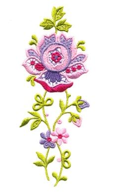 绣花 花纹 植物花纹 花朵 藤蔓 免费素材
