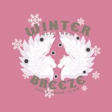 印花矢量图 T恤图案 图文结合 印烫结合 动物 免费素材
