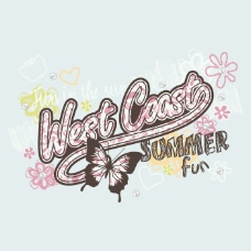 印花矢量图 T恤图案 图文结合 动物 昆虫 免费素材
