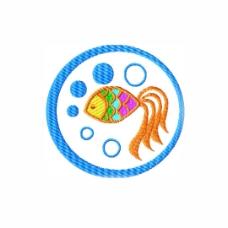 绣花 海洋动物 热带鱼 气泡 免费素材