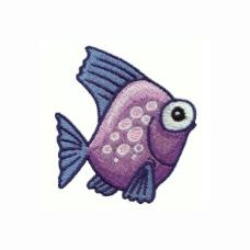 绣花 海洋动物 热带鱼 免费素材