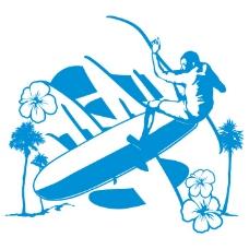 印花矢量图 T恤图案 人物 男人 冲浪板 免费素材