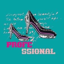 印花矢量图 T恤图案 图文结合 印烫结合 高跟鞋 免费素材