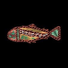 绣花 海洋动物 鱼 免费素材