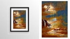抽象装饰挂画艺术