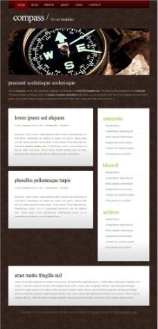 指南针考古信息网页模板