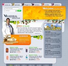 药膳食疗诊所网页模板