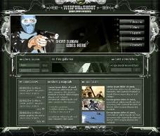 射击类游戏网页模板