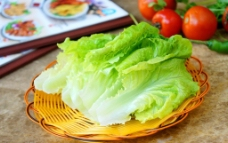 火锅 生菜图片