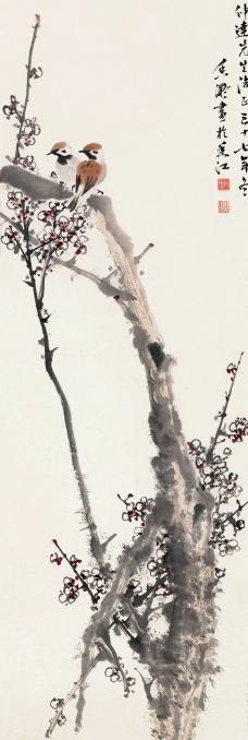 雀在梅梢图片
