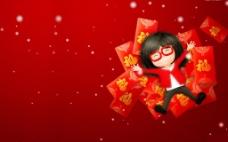 春节卡通喜庆红包壁纸