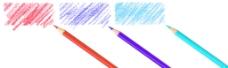 笔与裁剪路径在白色背景上的涂鸦