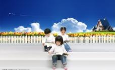 爱学习的小学生图片