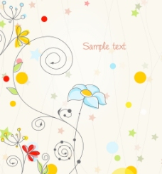 花卉背景矢量插画
