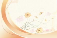 水彩花卉背景矢量插画