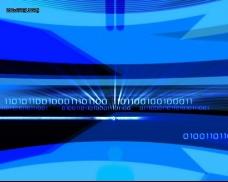 蓝色数码科技光效素材