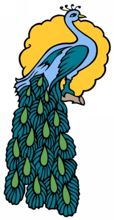 传统孔雀简笔画