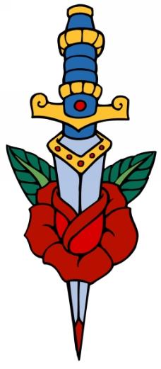 玫瑰纹身图片免费下载,玫瑰纹身设计素材大全,玫瑰,-.