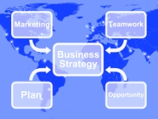 业务战略图和计划团队