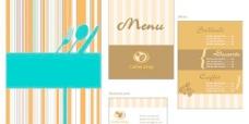 几款简洁漂亮的菜单模板矢量素材