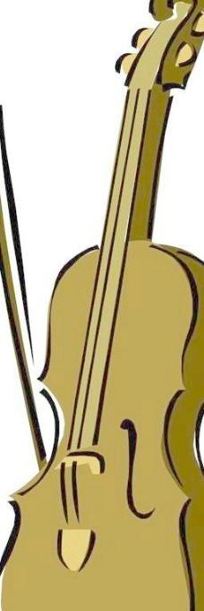 吉他钢琴小提琴矢量图