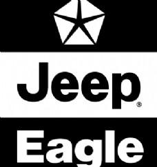 Jeep Eagle logo设计欣赏 吉普鹰标志设计欣赏