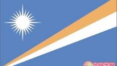矢量马绍尔群岛国旗