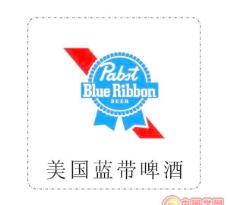 矢量美国蓝带啤酒标志