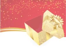金色礼盒矢量背景