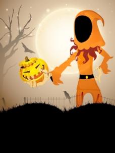 可怕的万圣节之夜的背景
