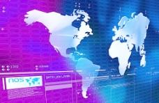 蓝色全球网络指标图图片