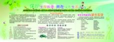 保护生存环境拥抱绿色生活板报