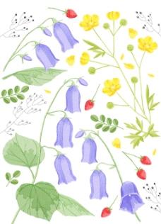 花朵移门设计素材