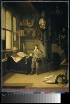 书房中的小男孩