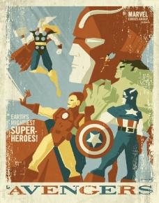 位图 主题 插画 复仇者联盟 美国队长 免费素材