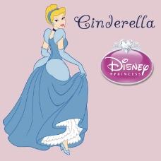 印花矢量图 可爱卡通 卡通形象 仙蒂公主 灰姑娘 免费素材