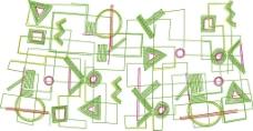 绣花 花纹 符号 几何 三角形 免费素材