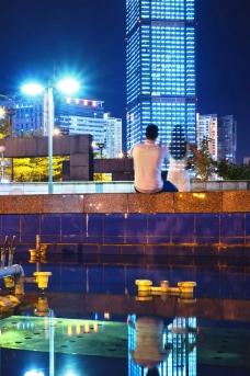 南宁金湖广场夜景图片