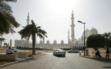 谢赫扎伊德清真寺远景图片