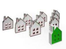 房子的符号意味着房地产销售