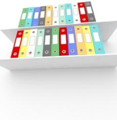 让办公室组织丰富多彩的文件架
