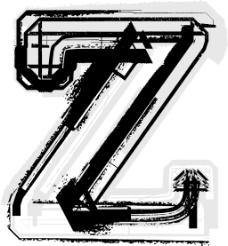 垃圾字体字母Z