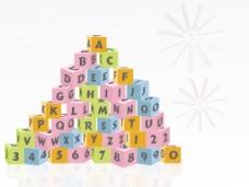 字母矢量魔方玩具