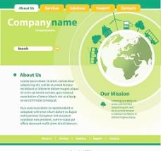绿色生活类网页图片