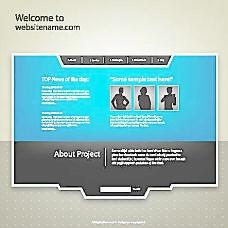 蓝色个人网页图片