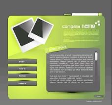 绿色照片网页模版图片